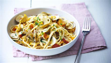 spaghetti aux coques chorizo  boursin fromage