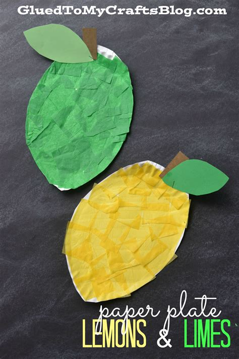 paper plate lemon lime kid craft lemon crafts fruit
