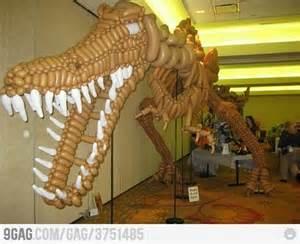 Balloon T-Rex Skeleton