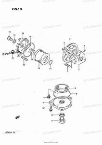 Suzuki Atv 1989 Oem Parts Diagram For Oil Pump    Fuel Pump