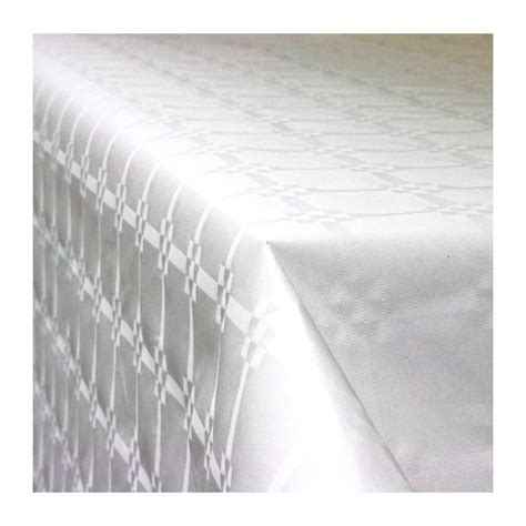 nappe en papier damass 233 blanche vaisselle jetable discount