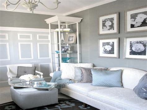 Coastal Themed Living Room, Grey White And Blue Living