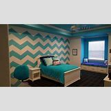 Teal And White Chevron Wall | 640 x 360 jpeg 41kB