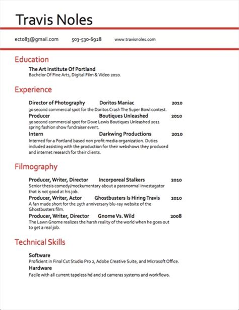 best resume for videographer travis noles videography and production