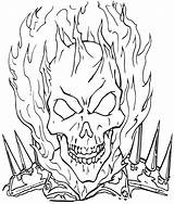 Coloring Ghost Rider Ghostrider Cartoon sketch template
