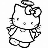 Coloring Hello Kitty Drawing Printable Angel Colouring Drawings Cartoon Draw Tattoos Sheets Kid Toddler Dragoart Devil Angels Wing Characters Wings sketch template