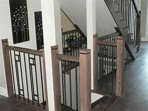 Rampe D Escalier Moderne : rampes de bois et m tal contemporaines boiseries sir laurier ~ Melissatoandfro.com Idées de Décoration