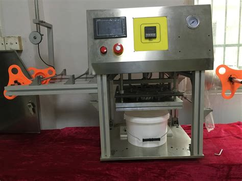 semi auto big bucketbox sealing machine manual barrel roll film sealer bkpack source