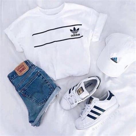 Shirt tumblr outfit tumblr summer adidas adidas shirt cute outfit summer top summer ...
