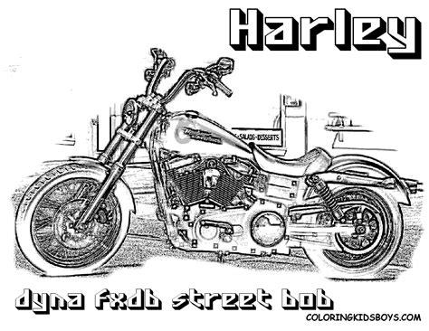 Kleurplaat Harley Davidson by Harley Davidson Coloring Harley Davidson