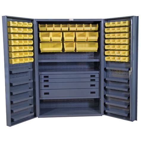 industrial storage cabinets with bins industrial furniture shop equipment hy tek material