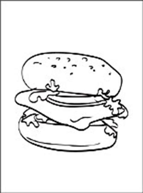 coloriage de hamburger  colorier coloriage  imprimer