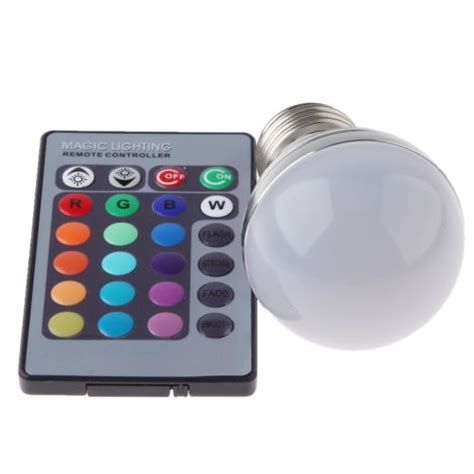 rgb 3w led light bulb e27 16 colors changing with ir