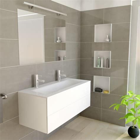 Cbox White  Wall Niche  Storing Bathroom Items
