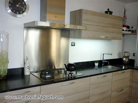 inox pour cuisine plan de travail en granit noir crédences et evier massif 38 et 73