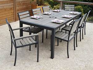 Table De Jardin En Metal : ensemble table chaise exterieur table de jardin metal pliante trendsetter ~ Teatrodelosmanantiales.com Idées de Décoration