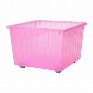 Bac De Rangement Ikea : vessla bac de rangement avec roulettes rose clair ikea ~ Melissatoandfro.com Idées de Décoration