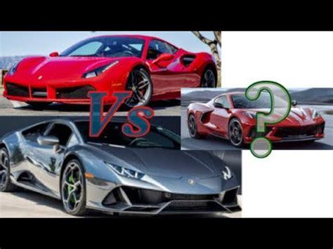 The vette's lt2 v8 engine is definitely not going to rev as high as the ferrari's, which will take you to a staggering 9,000. Lamborghini Huracan vs. Ferrari 488 vs 2020 Corvette? - YouTube