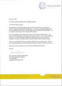 Character Reference Letter for Credit