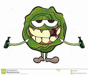 Cabbage cartoon character stock illustration. Illustration ...