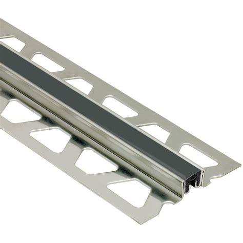schluter dilex ksn stainless steel with black insert 5 8