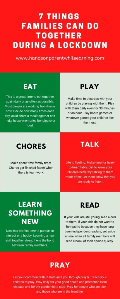 7 Activities Families Can Do Together During a Lockdown
