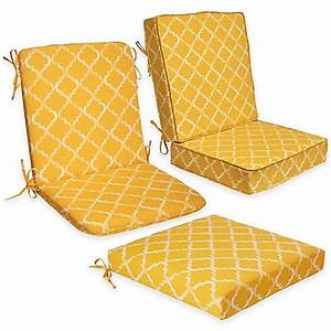 Enhance outdoor seat cushion collection in yellow bed for Bed bath beyond gel seat cushion