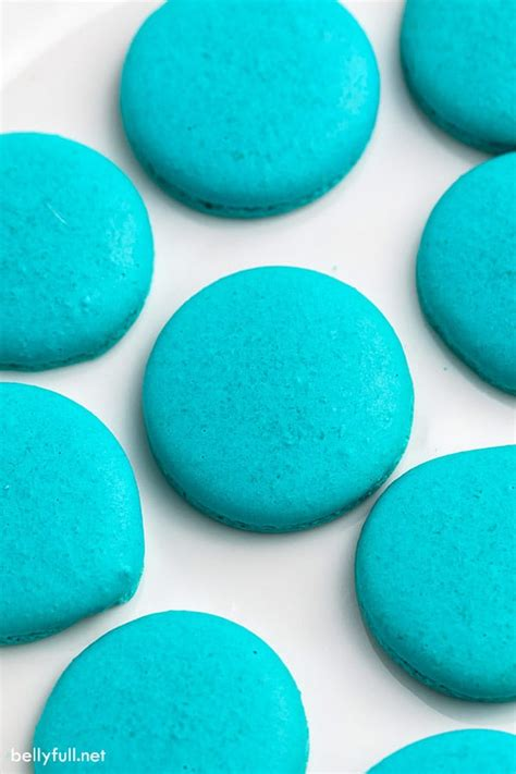 baby yoda cookies blue space cookies macarons belly full