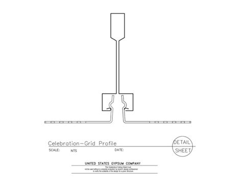 usg design studio 09 54 23 43 151 specialty ceilings celebration profile details