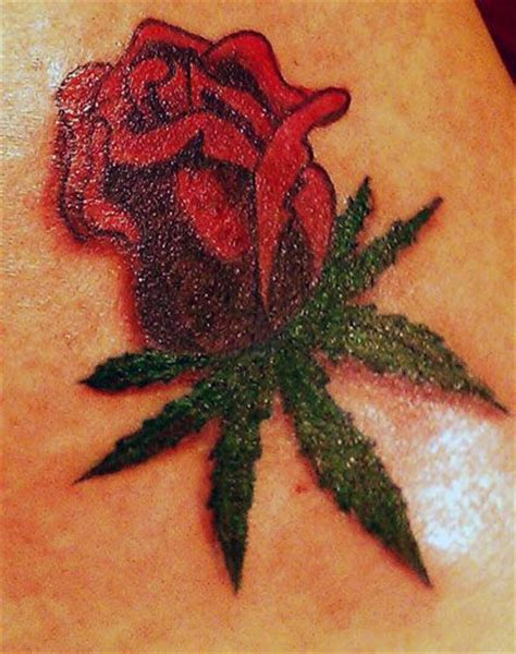 weed rose thcatoo tattoos weed tattoo rose tattoos