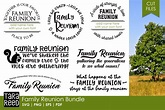 Family Reunion - Family SVG and Cut Files for Crafters