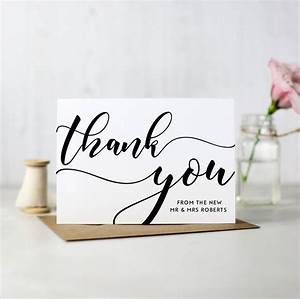 pack of 10 personalised wedding thank you cards by here39s With packs of wedding thank you cards