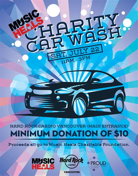 charity car wash poster  behance