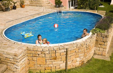 Piscine Seminterrate Economiche vendita piscine interrate piscine in lamiera d acciaio azuro