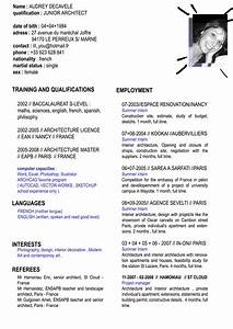 english cv format for cv resume With cv in english