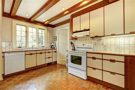 apartment kitchen cabinets simple white and wood kitchen stock photo image of 1308
