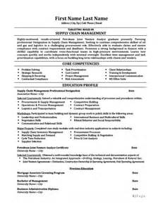 resume sles for supply chain management supply chain management professional resume template premium resume sles exle
