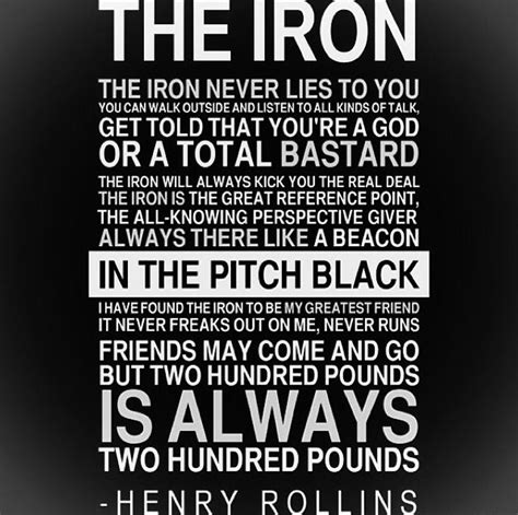 The Lift GymTHE IRON (Henry Rollins) - The Lift Gym