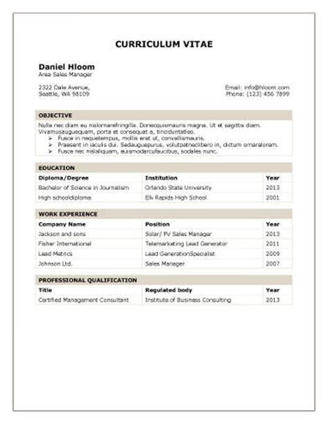 Education Qualification Table Format In Resume by 330 Modelos Y Plantillas De Curriculum Vitae Para Rellenar Gratis