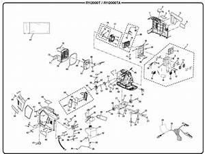 Ryobi Ryi2000ta Digital Inverter Generator Parts And Accessories