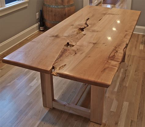 maple kitchen tables for sale live edge maple table with wood base montebello in 2019