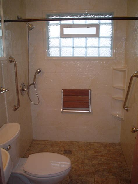 roll  handicapped shower  barrier  shower base