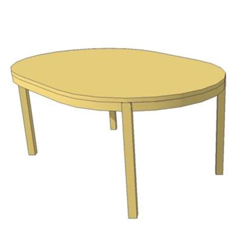 ikea round table with leaf bjursta table 3d model formfonts 3d models textures