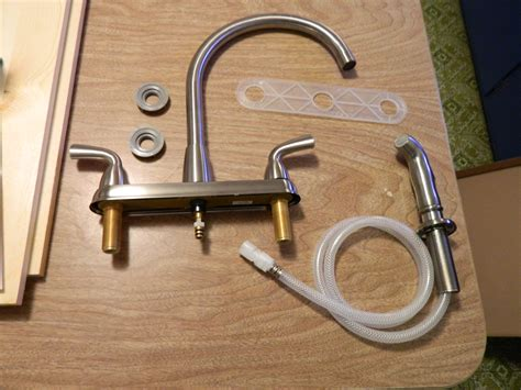 installing a kitchen faucet diy installing a kitchen faucet