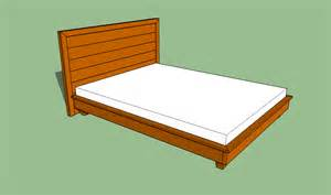 Platform Bed Frames by Building A Size Platform Bed Frame