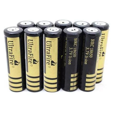 ultrafire baterai li ion 18650 6000mah 3 7v button top brc 18650 golden jakartanotebook