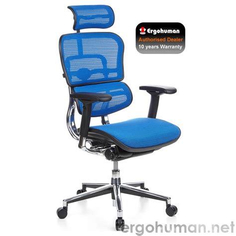 ergohuman blue mesh office chair ergohuman mesh office