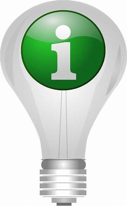 Clip Bulb Clipart Info Lightbulb Vector Icon
