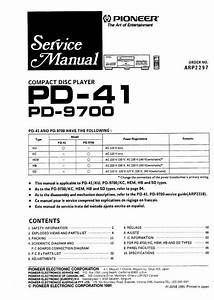 Pioneer Pd-9700  U0026 Pd-41 Original Service Manual