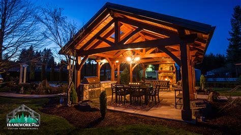 Farm Kitchen Ideas - mt hood timber frame pavilion boring or framework plus